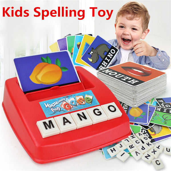 Educational Toy Parent-child English Spelling Alphabet Letter Game Kids Early Learning Tool