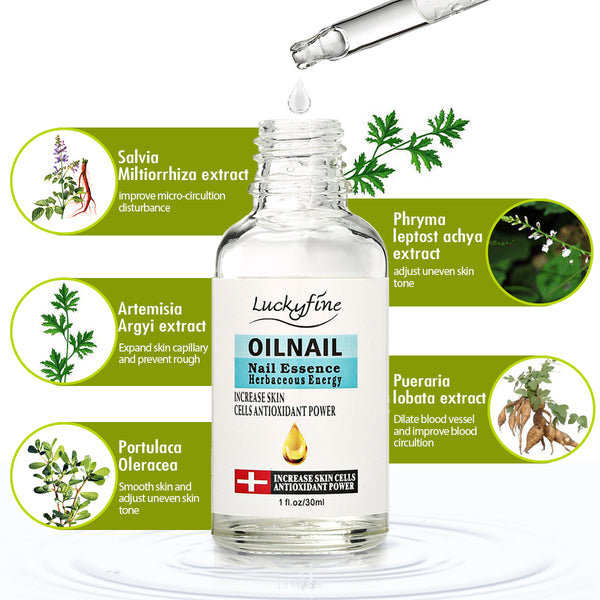 Luckyfine Nail Fungus Repair Treatment Organic Oil, Help Cracked Nails & Rigid Cuticle, 3.4 fl oz