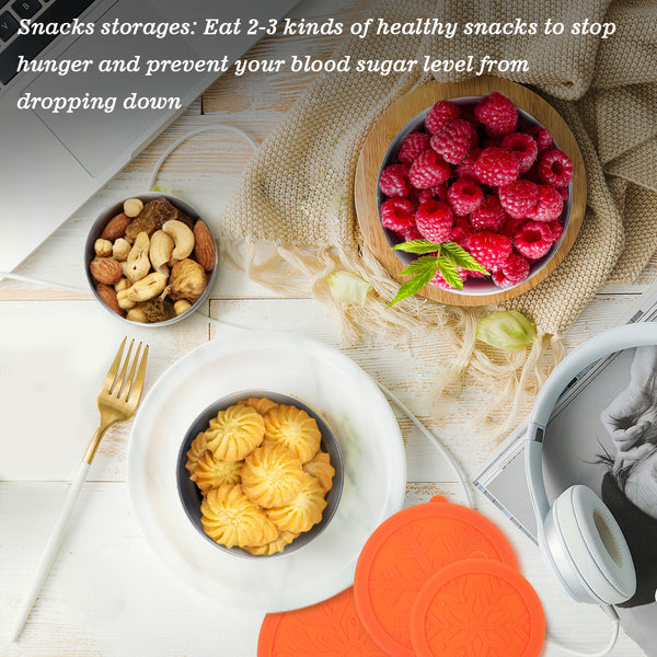 Set of 3 Stainless Steel Food Lunch Boxes,  Reusable, Leak Proof, Stackable Food Storage Containers