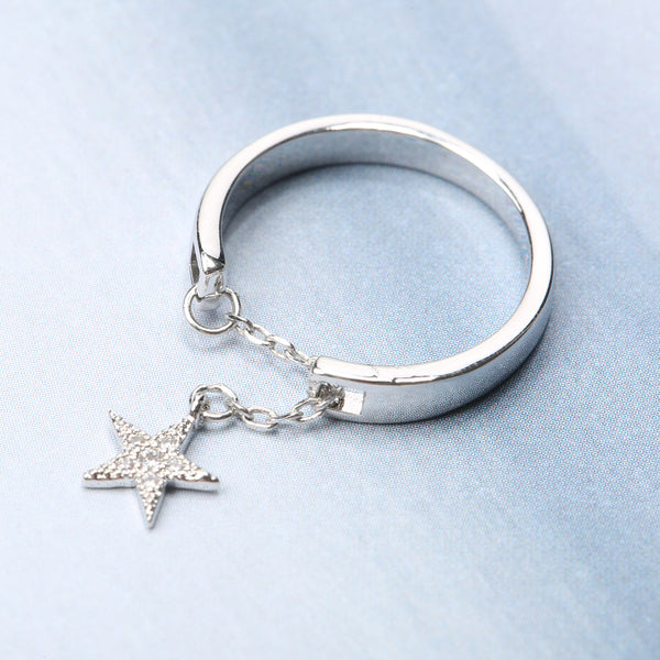 Adjustable Chain Star Finger Rings Open Rings