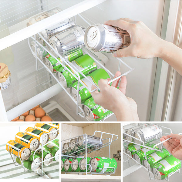 Beverage Can Dispenser Rack Organizer