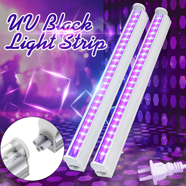 UV Blacklight Tube Glow in The Dark for Halloween/Party, Stage Lighting/Fluorescent/Body Paint, US Plug