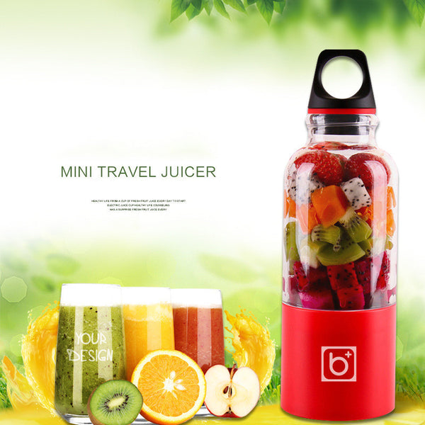 USB Portable Juicer, Juice Blender Juice Bottle Smoothie Blender 500ml