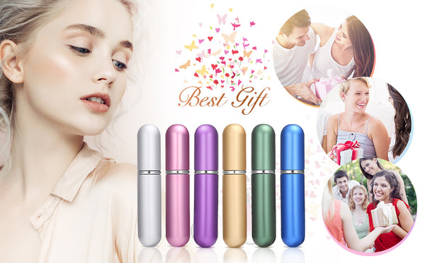 6PCS 6 Scent Perfume Spray Gift Set, Mini & Portable