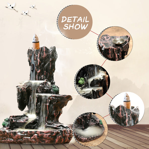 Waterfall Backflow Incense Cones Holder