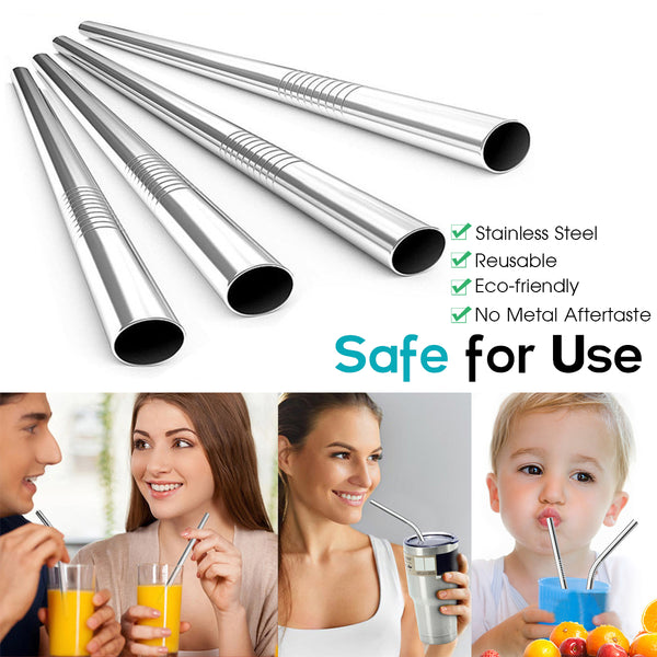 Stainless Steel Reusable Portable Straw Set
