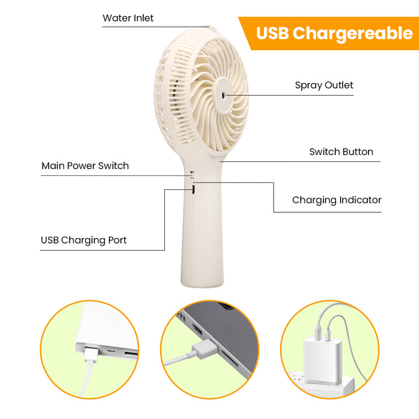USB Portable Fans Spray