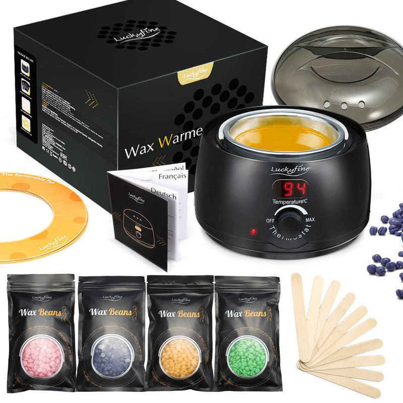 Luckyfine Professional Electric Wax Warmer With Wax Bean,  Stir Bar and Anti-staining Ring-6