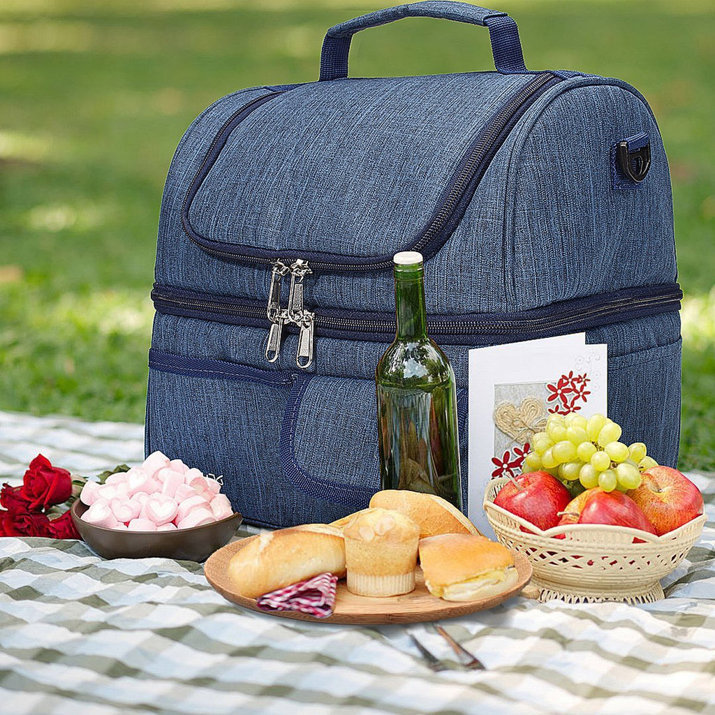 Environmental-friendly Insulated lunch Bag with Handle and Shoulder Strap-10