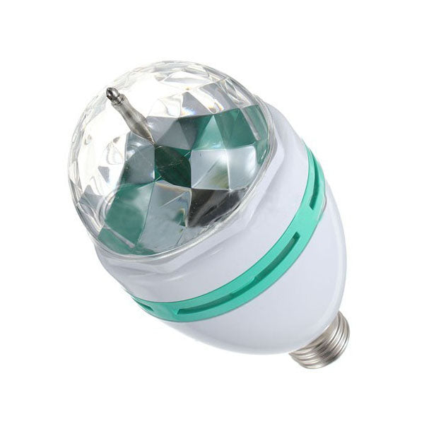 E27 3W Colorful Rotating RGB Spotlight Bulb Crystal Light Pattern For Halloween/Party Disco Stage