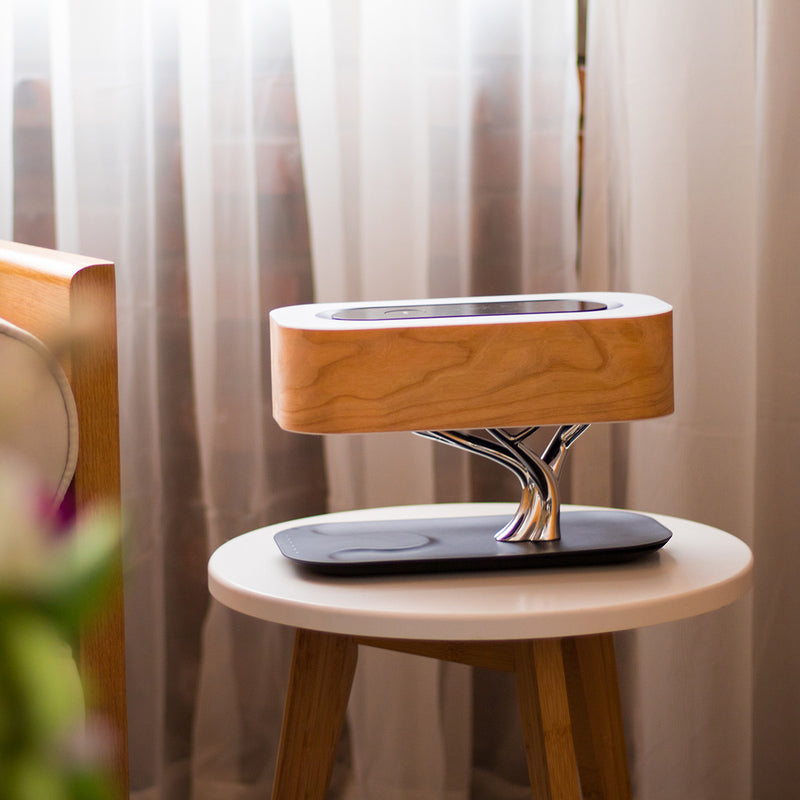 Tree Table Lamp, Touch Control Music Bluetooth Speaker WiFi LED Mobile Phone Wireless Charging Light