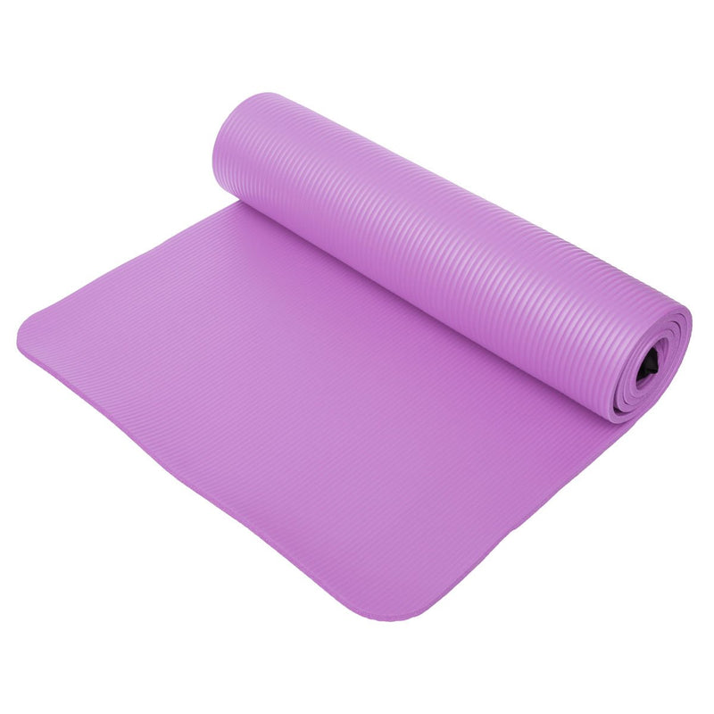 Portable Yoga Mat 1cm Thick Anti-slip Exercise Fitness Pilates Gym Mats with Rope