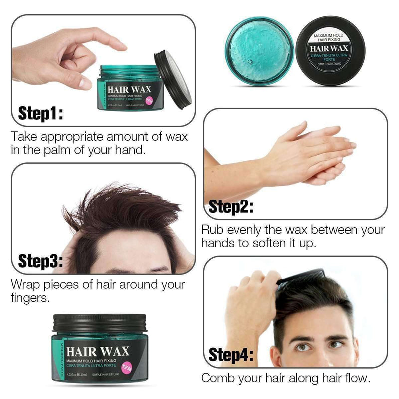 Strong Hold Hair Wax-4-Luckyfine