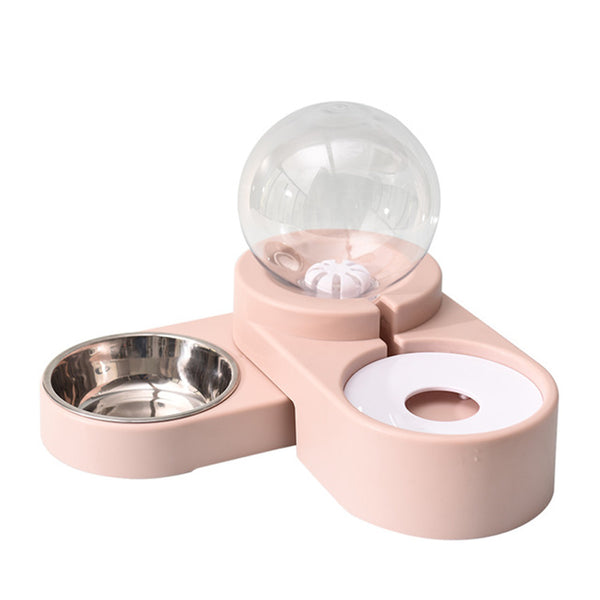 1.8L Pet Bowls Food Automatic Feeder/Dispenser Bubble Fountain Water Drinking for Cat Dog