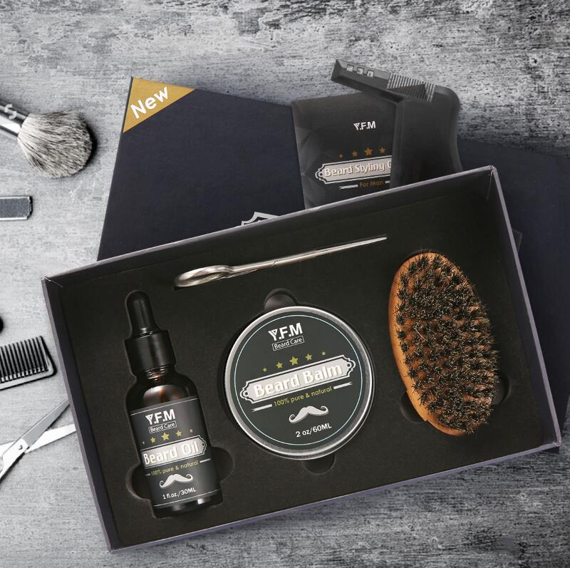 Beard Care Grooming & Trimming Kit-1-Luckyfine