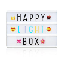 Cinema Light Box with Letters
