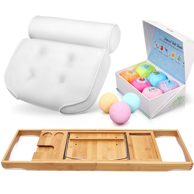 Natural Essential Oils Bath Bombs Gift Set, 6 PCS for Home Spa