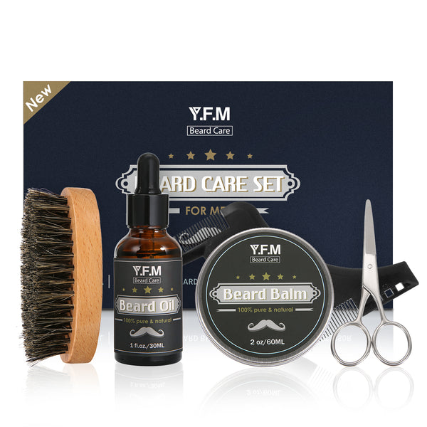 Beard Care Grooming & Trimming Kit-Luckyfine