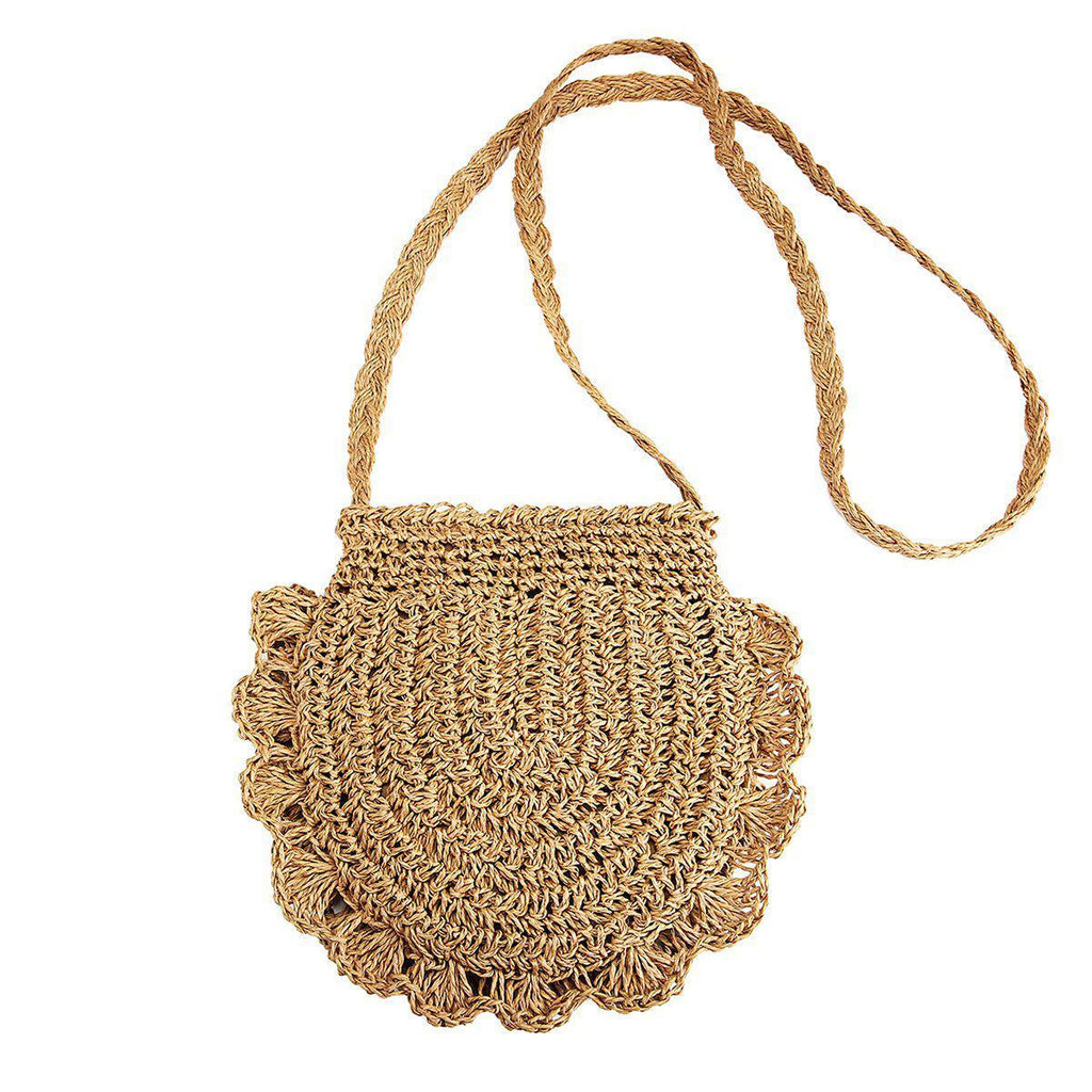 Lace Straw Crossbody Bag-Luckyfine