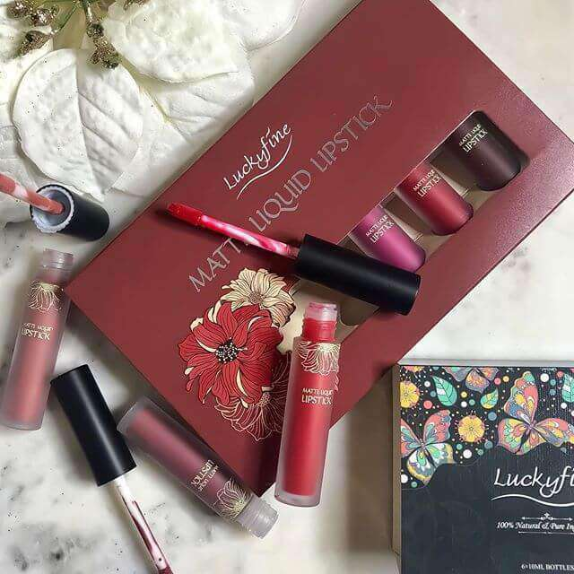 6 Colors Matte Lip Set-5-Luckyfine