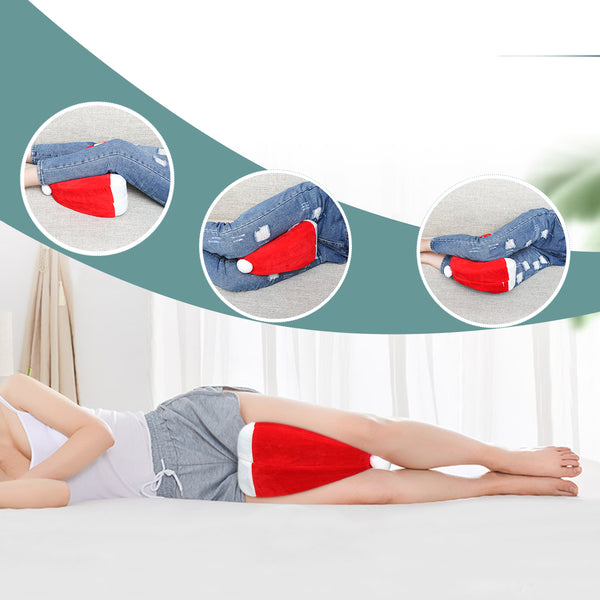 Christmas Gift Orthopedic Memory Foam Knee Pillow for Hip, Leg, Joint Pain Relief