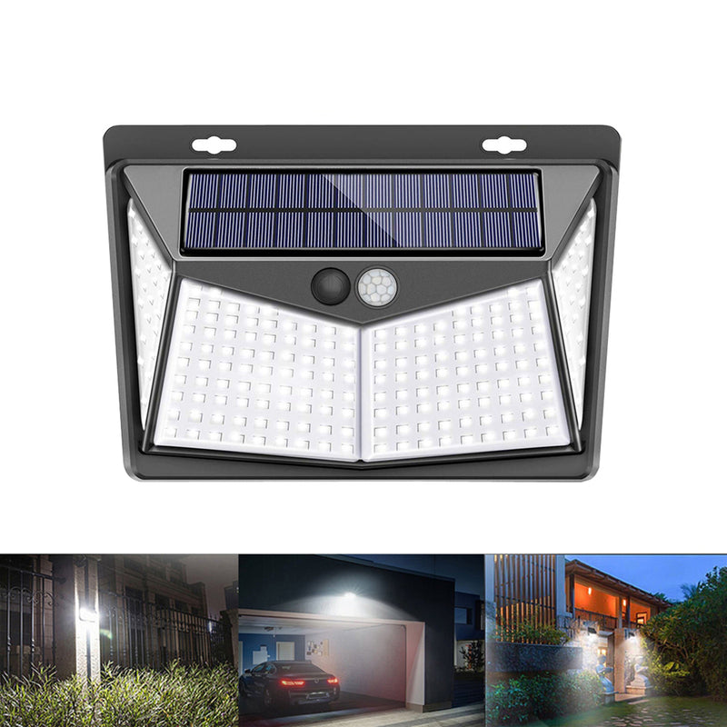 LED Solar Power PIR Motion Sensor Wall Light Outdoor Garden Lamp Waterproof