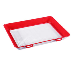 2 PCS Food Preservation Trays with 2 Dishwashing Rags, Stackable Vacuum Seal for Vegetable, Fruits, Meat
