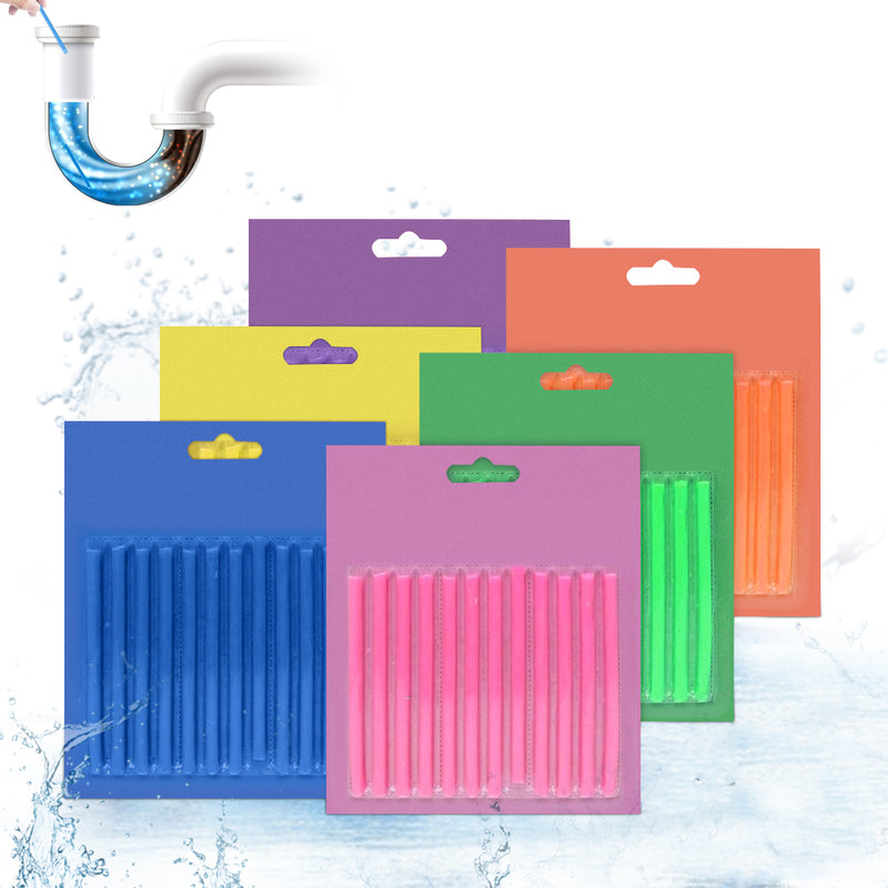 72PCS Enzymatic Drain Cleaner Sticks Deodorizer Enzymatic for Kitchen Sink Bathroom Toilet Sewer 100% Natural Degradation