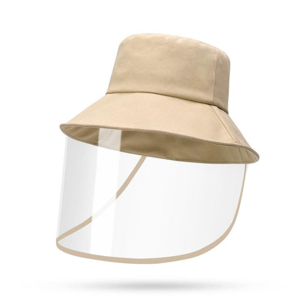 Cute Fisherman Hat Detachable Face Shield Protective Cap Sunshade Anti-Fog Saliva Dustproof,  Full Face Cover