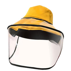 Detachable Face Shield Protective Cap Fisherman Hat Anti-Fog Saliva Dustproof, 2 Sides & Full Face Cover