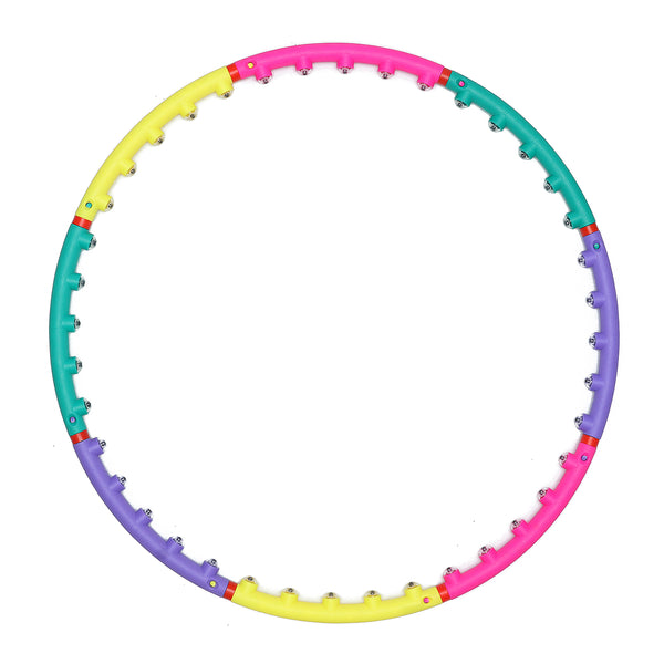 Hoola Hoop 8 Section Adjustable Design w/ Air Cushions Built-in Magnetic Beads, Fitness Exercise Circles