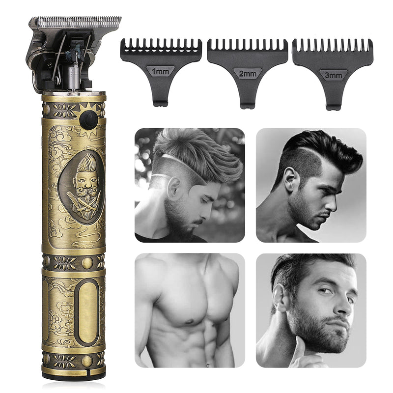 Home Use Electric Beard Trimmer for Men, Professional Beard/Hair Clipper Shavers, Portable USB Charging with 3 Comb
