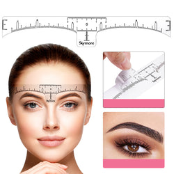 SKYMORE 100PCS Eyebrow Ruler, Disposable Eyebrow Template Stencils, 3 Minutes Makeup Tools For Eyebrow