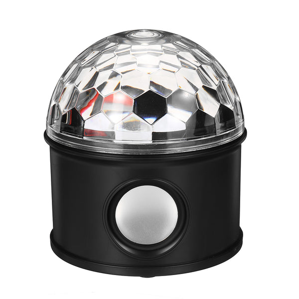 LED Stage Light 12W RGB Disco/Halloween Party Ball Light, Bluetooth Music Player USB Charge
