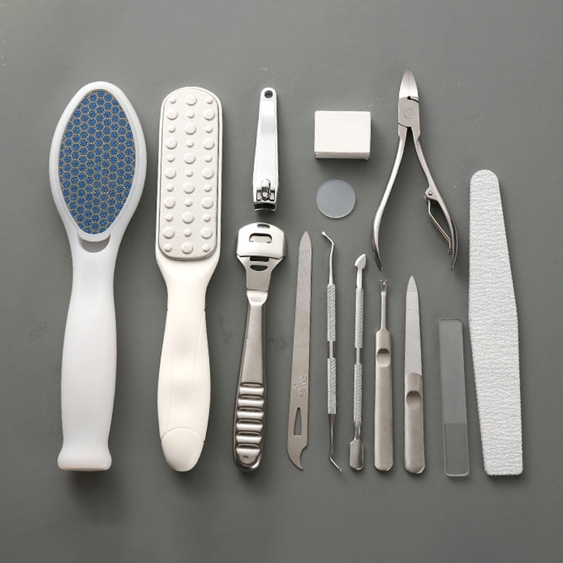 14PCS Exfoliating Foot File Set Professional Pedicure Remove Callus Foot Care Tool