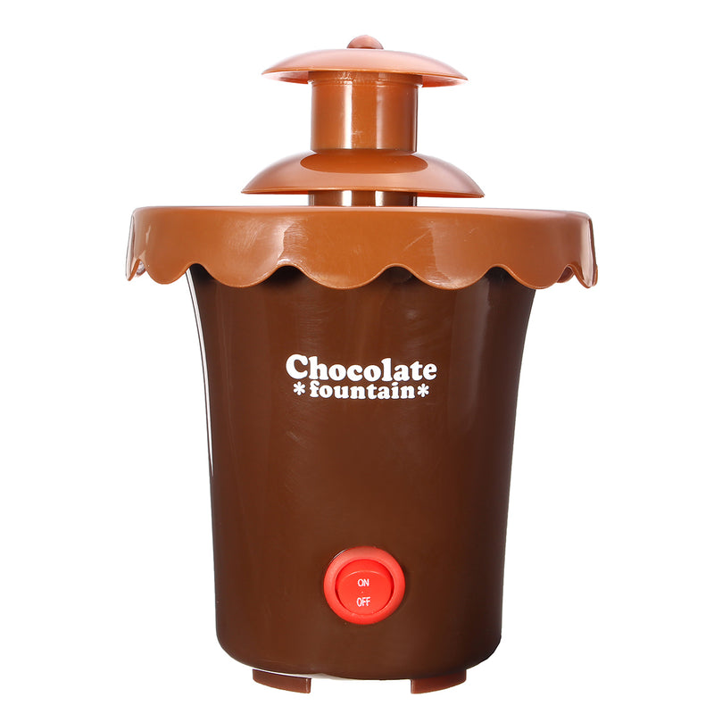Mini Chocolate Fondue Fountain 2 Tier, Perfect For Cheese, BBQ Sauce, Liqueurs Chocolate Hot Pot