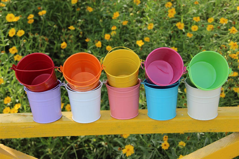 10PCS Garden Metal Hanging Bucket-Luckyfine
