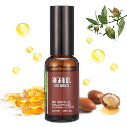 Skymore Natural Cold-Pressed Moroccan Argan Oil for Damaged Hair, Dry Skin & Nail Care, Moist Skin