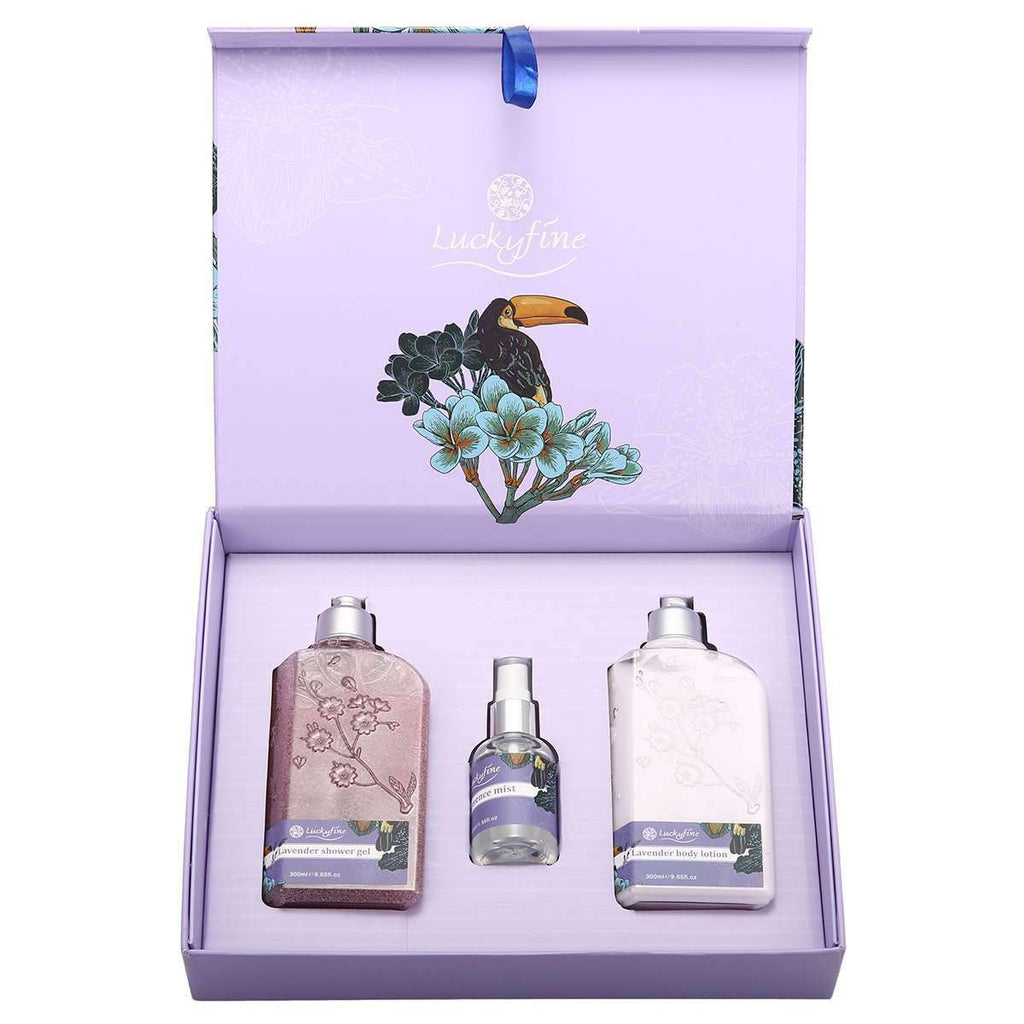 Lavender Silky Soft Skin Care Gift Set-1-Luckyfine