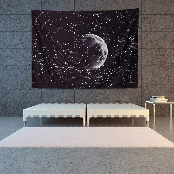 Zodiac Galaxy Style Decorative Tapestry Hanging Decor for Home