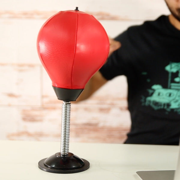 Stress Reliever Ball Desktop Boxing Punching Ball Pump Equipped Relief Toys for Office/Home