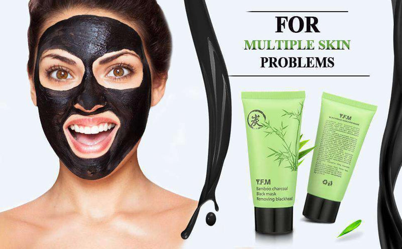 Charcoal Black Mask-4-Luckyfine