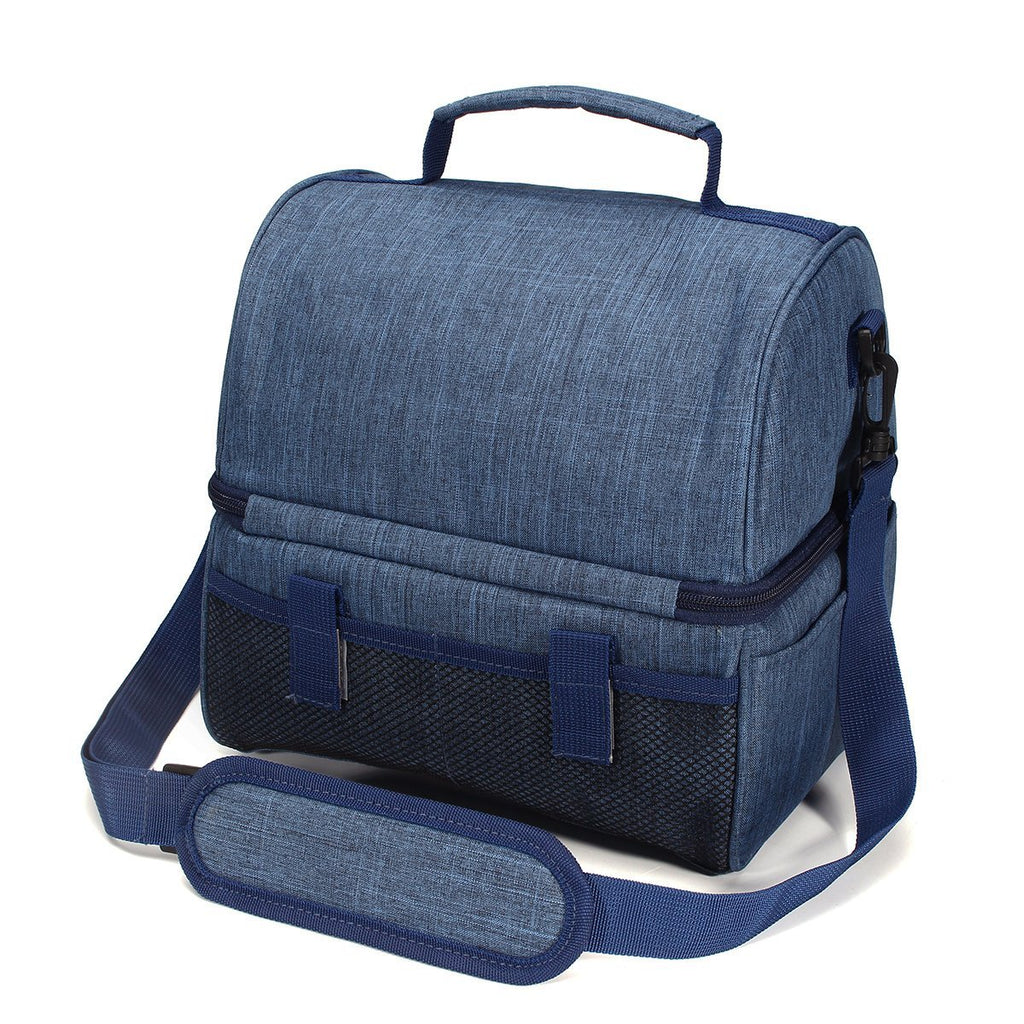 Environmental-friendly Insulated lunch Bag with Handle and Shoulder Strap-7