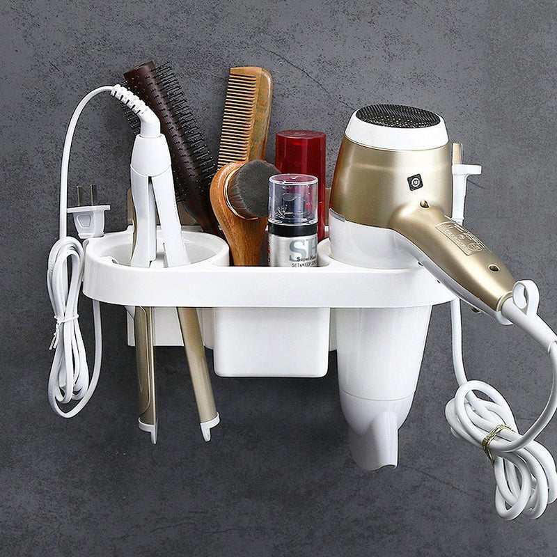 Wall Mounted Hair Dryer Holder-Luckyfine