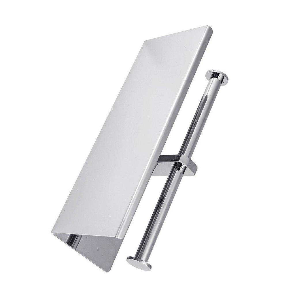Stainless Steel Double Roll Toilet Paper Holder-Luckyfine