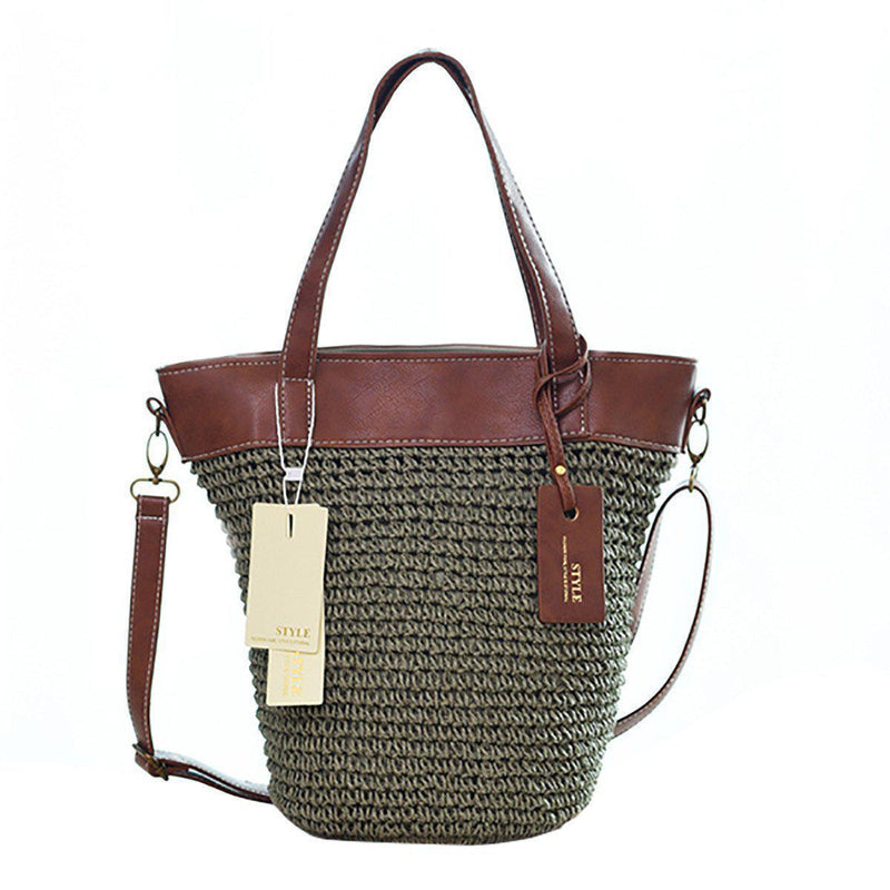 Outdoor Casual Cross body Straw Handbag-16
