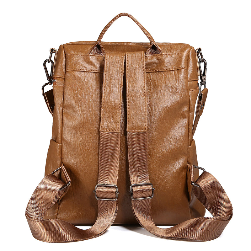 Soft PU Leather Backpack For Women-71