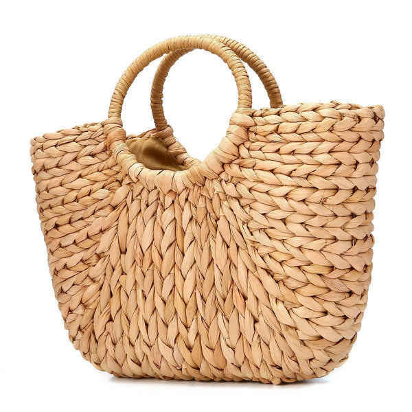 Straw Hobo Weave Beach Bag-Luckyfine