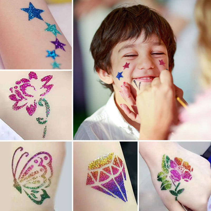 Glitter Tattoo Kit-4-Luckyfine