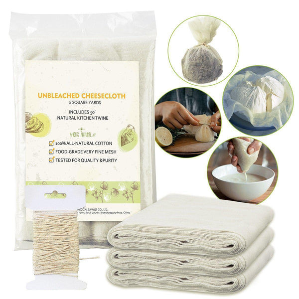 Natural Cotton Reusable Unbleached Cheesecloth, for Cooking & Dry Food Storage-Luckyfine
